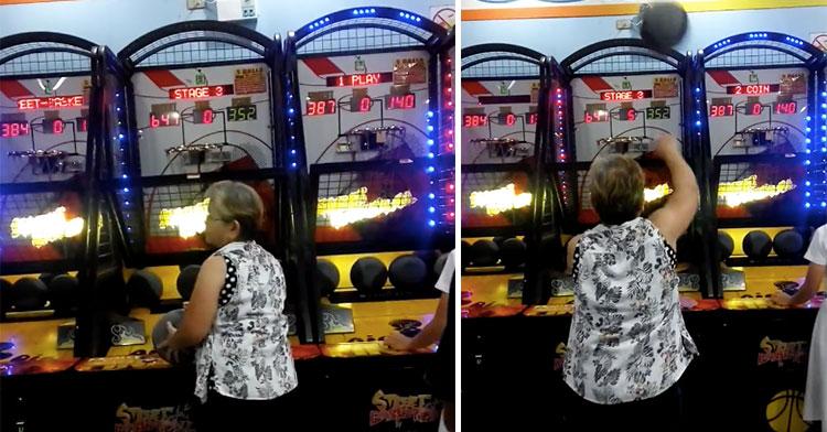 mrs flordelizaa dunking arcade game