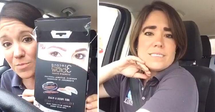 Reporter Kristen Hampton Reviews 3 Second Brows Product