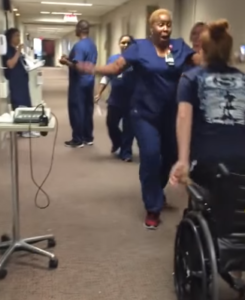 A Texas teen was left paralyzed for nearly two weeks after a fall, and doctors said she had less than a five percent chance of ever walking again. But the feeling started to come back after just 11 days, and she decided to surprise her favorite nurse - by standing to give her a hug!