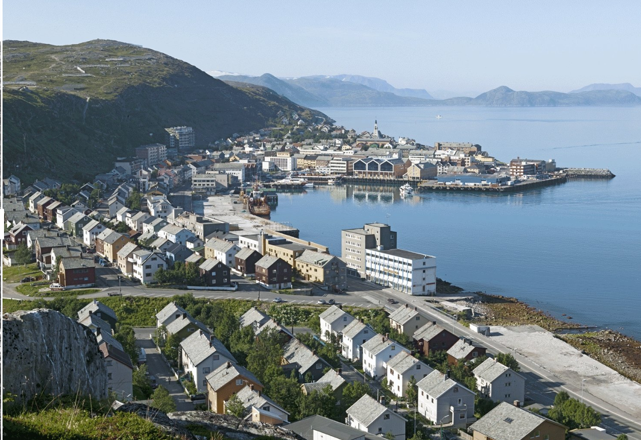 Hammerfest, Norway before and after