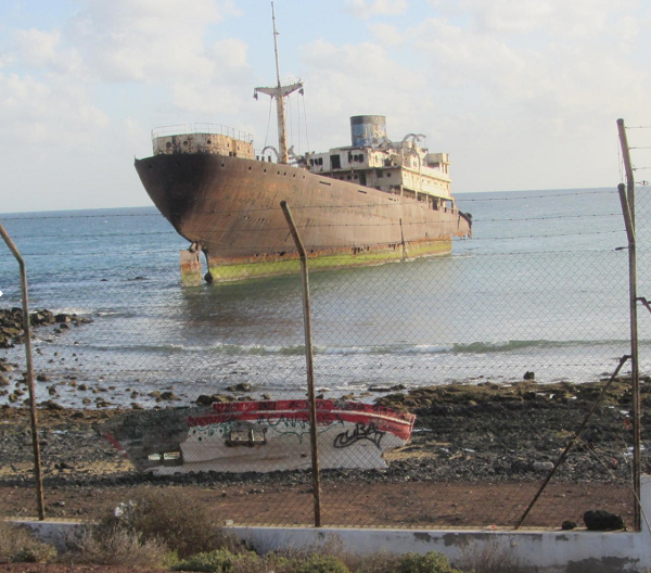 Canary Islands shipwreck