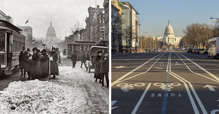 20 Before & After Photos That Capture Just How Much The World Has Changed