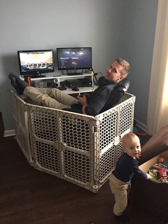 men acting like kids