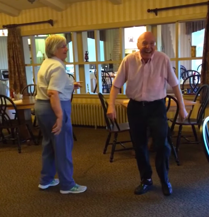 elderly dance