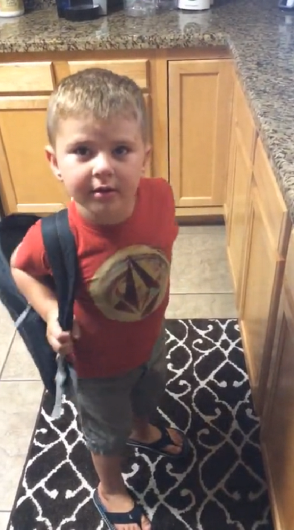toddler wants to go to school