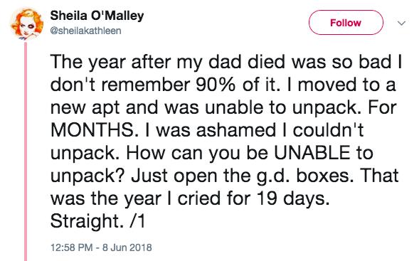 sheila tweet depression