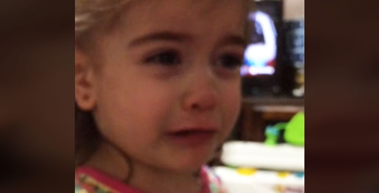Little Girl Has Cutest Meltdown When Daddy Forgets To Hug & Kiss Her