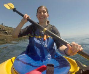 julia in canoe