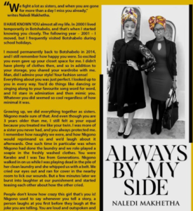 sisters mag page