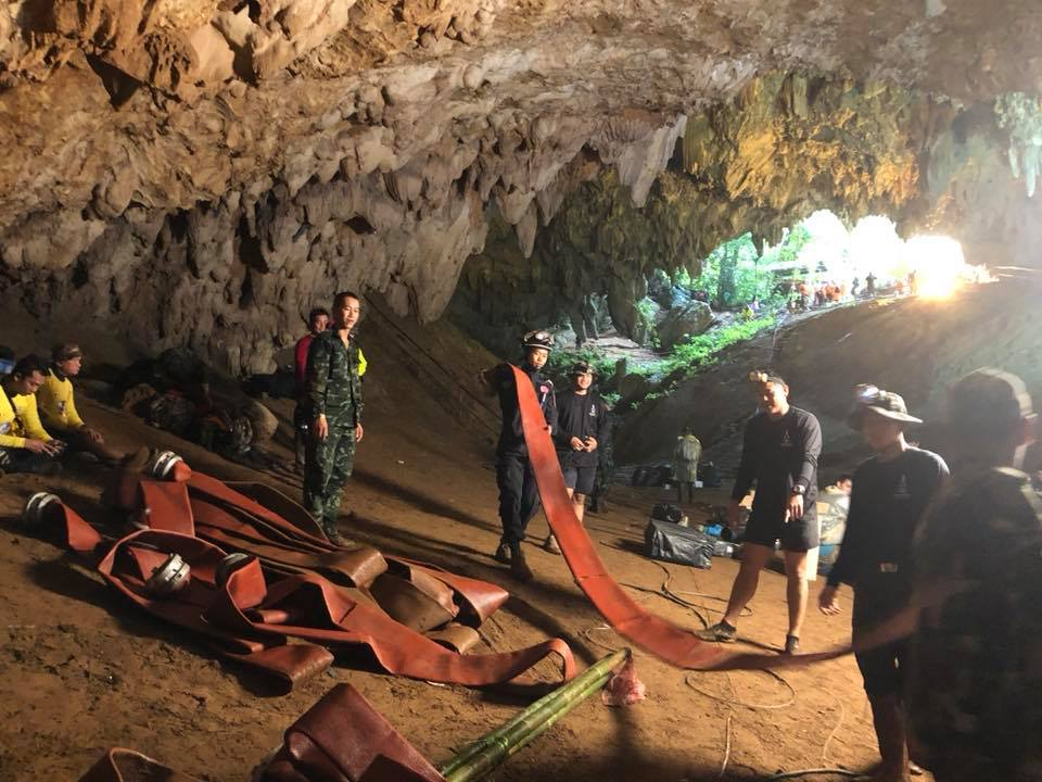Thai Navy rescues soccer team from cave
