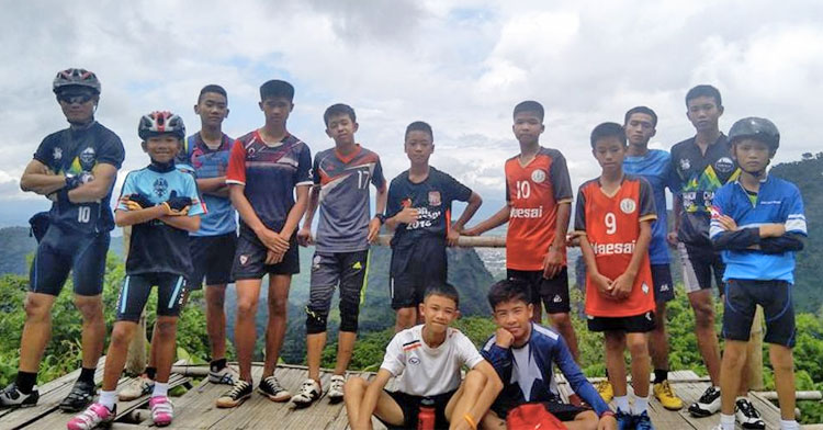 wild boars soccer team hiking