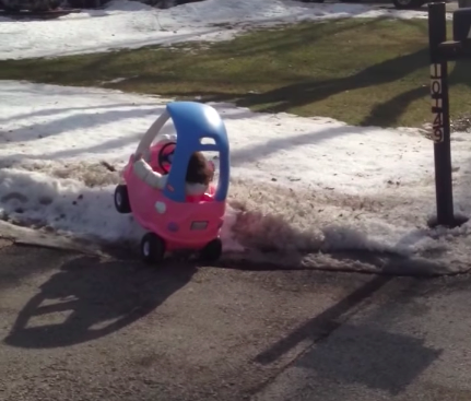 little toddler driving toy car