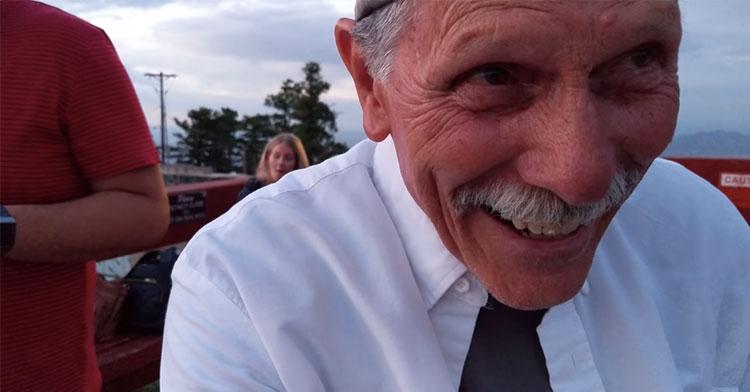 grandpa selfie proposal video