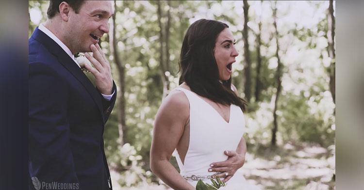 wedding puppy surprise