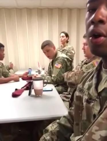 singing soldier
