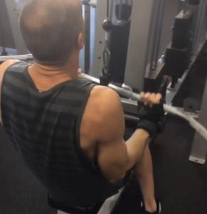steve working biceps