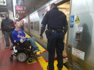 officer and chris at train