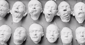 plaster cast faces