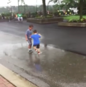 kids in ohio puddle