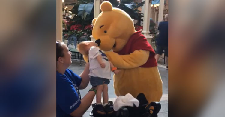 winnie the pooh disabled boy