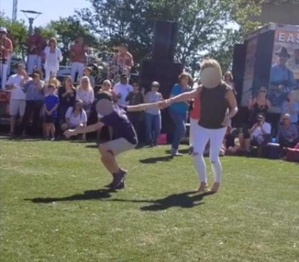mother son shag dance