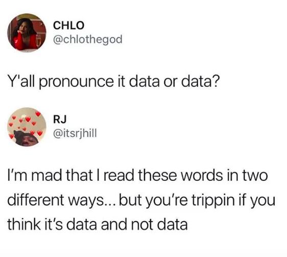 data tweet