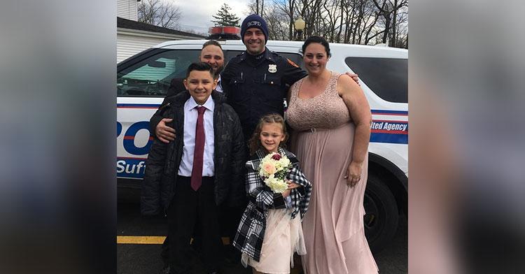 crash cop wedding