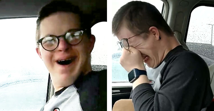 Boy With Downs Finds Out Mom Is Taking Him To Disney & His Reaction Is Priceless.