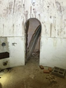 inside of bomb shelter