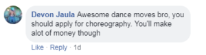 dance video comment
