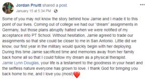 jordan posts about jamie
