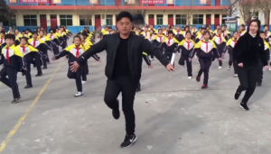 principal leads dance formation