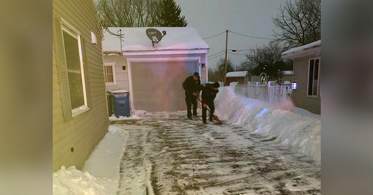 firefighters shovel