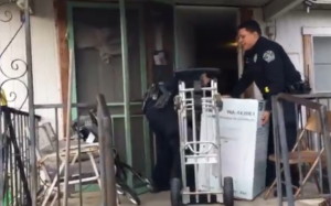 cops deliver new heater