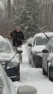 boss removes snow