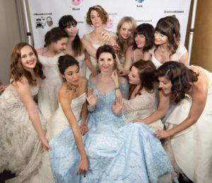 ladies wear their wedding dresses
