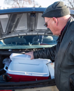 glenn's car trunk