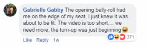 dancing baby video comment
