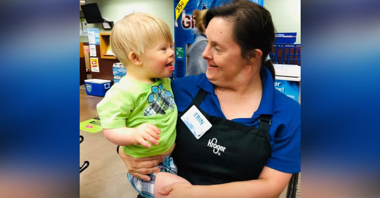 Toddler With Down Syndrome & Kroger Worker Are Best Friends