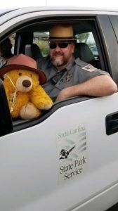 bear with park ranger