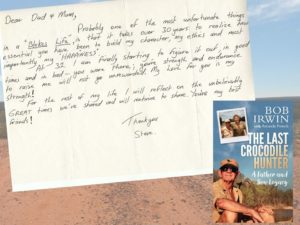 steve irwin's letter to parents