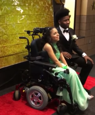 tahj and evelyn at special needs prom