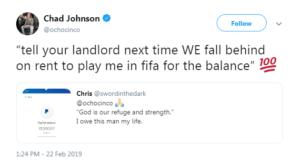 chad johnson tweet