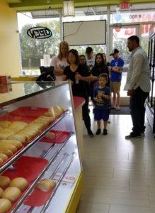 donut shop customers