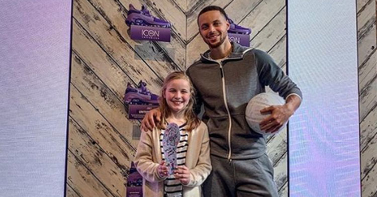 fe0c52fa894 9-Yr-Old Calls Out Steph Curry For Only Carrying Boys  Shoes   He Has Epic  Response.