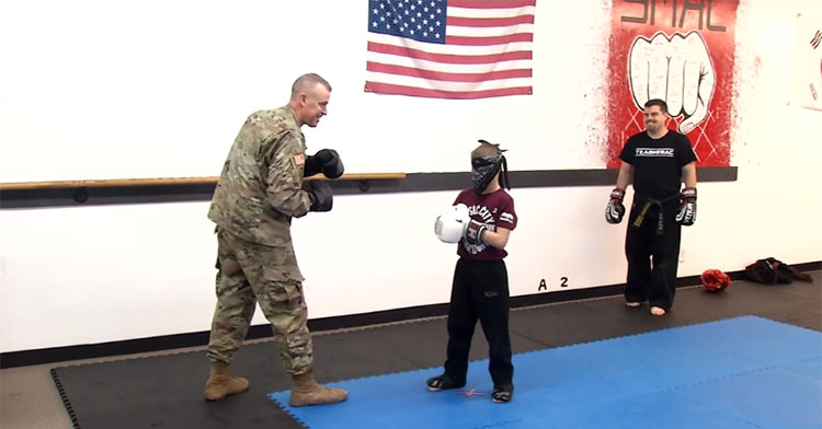 army dad taekwondo surprise