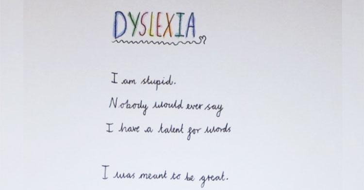 dyslexia poem
