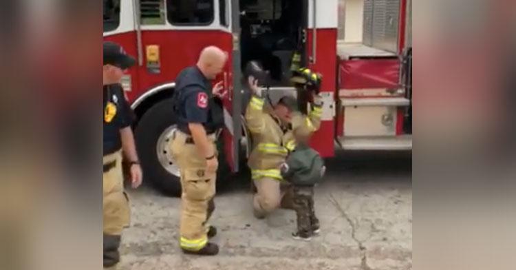 firemen surprise