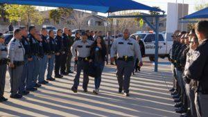 cops escort natalie to school