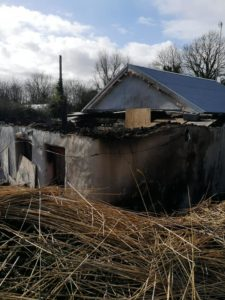 cottage after the fire